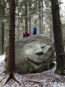 Glada stenen Tjäderstigen