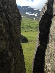 Ett delta mitt bland alla stenar.